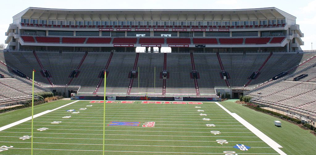 #3 Alabama heads to Vaught-Hemingway Stadium to take on #11 Ole Miss in the biggest game of the week. (Wikipedia photo)