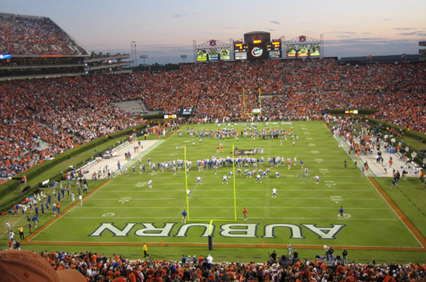LSU faces a huge challenge this Saturday when they visit Jordan-Hare Stadium to take on the Auburn Tigers. (Wikipedia photo)